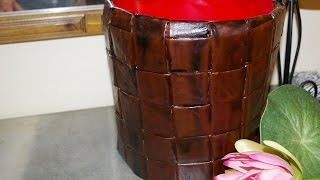 getlinkyoutube.com-RECICLAR UN VIEJO CUBO DE PINTURA. Recycle an old paint bucket