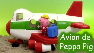 getlinkyoutube.com-Peppa Pig Holiday Plane Avion des vacances Jouet ♥ Air Peppa Holiday Jet