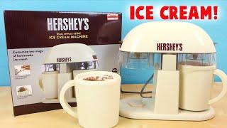 getlinkyoutube.com-Hershey's Ice Cream Machine Dual Single Serve - Make Chocolate Ice Cream!