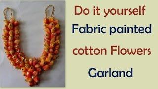 getlinkyoutube.com-Do it yourself cotton flowers garland