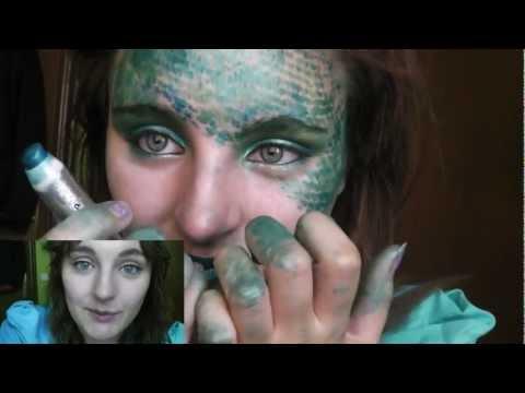 Maquillage Halloween transformacion en serpiente