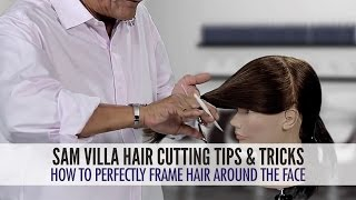 getlinkyoutube.com-How To Easily Frame Hair Around The Face Using a Twist Cutting Technique