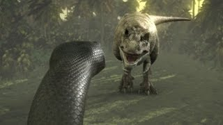 getlinkyoutube.com-Titanoboa: Monster Snake - Titanoboa Vs. T-Rex