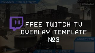 getlinkyoutube.com-Free Twitch Overlay Template Download PSD #3