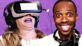 getlinkyoutube.com-People Try Virtual Reality Porn