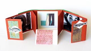 getlinkyoutube.com-How to Make a Folding Scrapbook Album