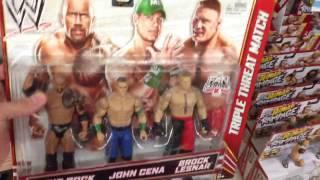 WWE ACTION INSIDER: Kmart and ToysRus wrestling figures store aisle mattel elites basics shopping