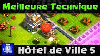 getlinkyoutube.com-Clash of Clans - Superbe stratégie d'attaque HDV 5 aux Ballons!