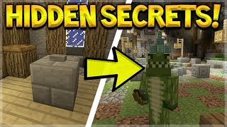 NEW LOBBY SECRETS!! Minecraft Console Edition Mini-Game Lobby HIDDEN Secrets (Console Edition)