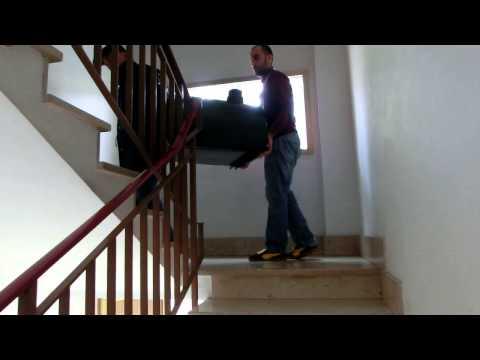 Forno de lenha portátil apenas 35 kg! Como transportar a madeira Pizza Party forno: subir escadas