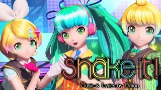 getlinkyoutube.com-[60fps Full] shake it! シェイクイット! - Hatsune Miku Rin Len 初音ミク 鏡音リン レン DIVA English Romaji PDA FT