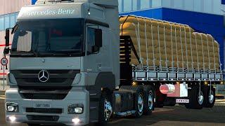 getlinkyoutube.com-Euro Truck 2 Brasil: EAA Mapa - Mercedes Axor  no granel