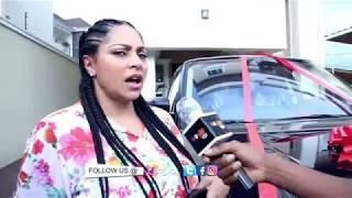 Peter Okoye aka Mr P surprises his wife Lola Omotayo-Okoye with a Range Rover width=