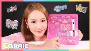 getlinkyoutube.com-말랑말랑 주얼젤리 로 캐리의 장난감 액세서리 만들기 놀이 CarrieAndToys