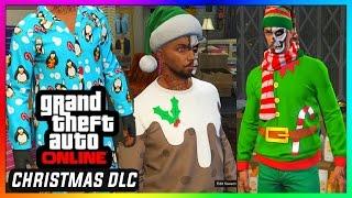 getlinkyoutube.com-GTA 5 Online - Christmas DLC! - All New Xmas Clothing, Outfits, Jumpers, Scarfs, Shoes etc.