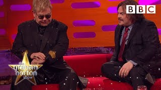 getlinkyoutube.com-Jack Black asks Sir Elton John to identify one of his own songs - The Graham Norton Show