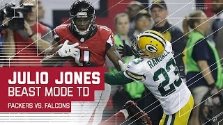 getlinkyoutube.com-Julio Jones Beast Mode 73-Yard TD! | Packers vs. Falcons | NFC Championship Highlights