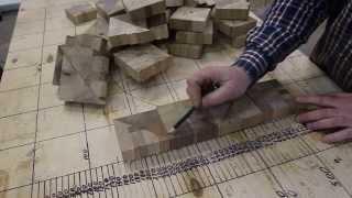 getlinkyoutube.com-Making Chaotic pattern end grain cutting board from scrap wood