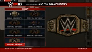 getlinkyoutube.com-WWE 2K16 How To Get Seth Rollins Custom Championship