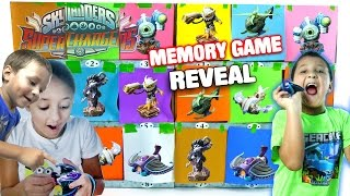 getlinkyoutube.com-Skylanders Superchargers Surprise Memory Game Toy Reveal! (Make a Match) Nightfall, Diveclops + More