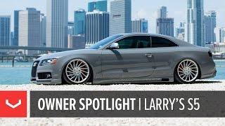 getlinkyoutube.com-Vossen Owner Spotlight | Larry's Bagged Nardo Audi S5 | Vossen Forged VPS-304 (4K)