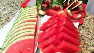 getlinkyoutube.com-КАК НАРЕЗАТЬ АРБУЗ красиво и быстро.  Три способа. HOW to slice watermelon.