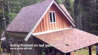 getlinkyoutube.com-Wilderness Off Grid Cabin Building - Short update Oct. 13'