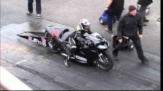 GIRL 16 YEARS OLD RIDES THIS SUPER TWIN BIKE AT SANTA POD MAY 2011