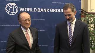 Reunión de S.M. el Rey con el Presidente del Banco Mundial en Washington
