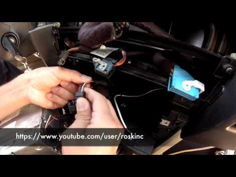 BMW ... 5 series AUX audio ipod install DIY