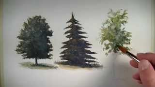 getlinkyoutube.com-How to Paint Trees with Watercolor