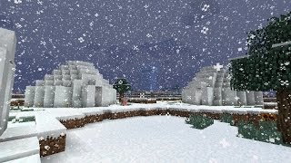 getlinkyoutube.com-Snow Village Seed - (Minecraft Pocket Edition)