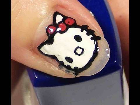 cute hello kitty nail designs. Hello Kitty Nails