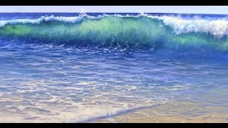 getlinkyoutube.com-How to Paint Water On A Beach - Mural Joe