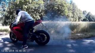 getlinkyoutube.com-Panigale 899 Fränkische Schweiz FULL HD Burnout