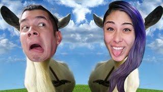 getlinkyoutube.com-GRAPPLING TONGUE - Goat Simulator Co-Op