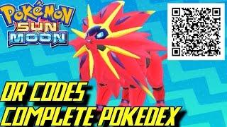 getlinkyoutube.com-Pokémon Sun and Moon - Complete Pokédex (ALL QR Codes & Shinies)