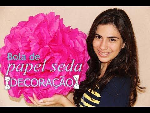 #Decoração: Pompom de papel seda para festas! DIY