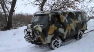 getlinkyoutube.com-УАЗ ПАТРИОТ, БУХАНКА & HOVER зимнее бездорожье