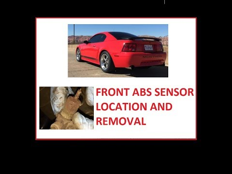 How to locate and remove the front ABS sensor