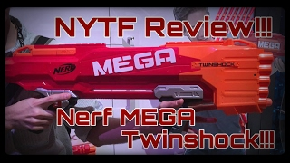 getlinkyoutube.com-First Review: The Nerf MEGA TWINSHOCK (High Caliber Shotgun)