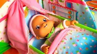 getlinkyoutube.com-Smoothie Babies My Nursery Baby Dolls Crib & Bathroom Mi cuarto de bebé Smoothie Babies Baño y Cuna