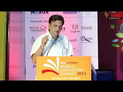 WES 2013  Prof Dr) S S Mantha, Chairman, All India Council for Technical Education