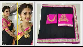 Latest sneha designer cotton saree with designer blouse collections