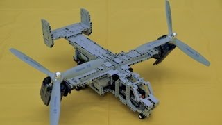 getlinkyoutube.com-Lego Bell-Boeing V-22 Osprey the first try ends with crash