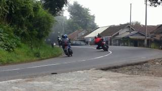 getlinkyoutube.com-Cornering Bandung Cornering gabungan CONNAN @Ciater (Hampir Celaka)