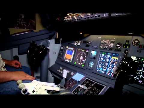 Un simulateur de vol dans son sous-sol