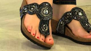 getlinkyoutube.com-White Mountain Beaded Thong Sandals - Blast with Shawn Killinger