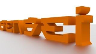 getlinkyoutube.com-How To Make 3D Text In Blender
