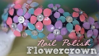 getlinkyoutube.com-DIY: Nail Polish Flowercrown